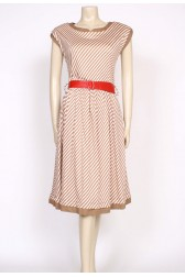 80's tan stripe dress