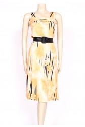 tiger print 70's sun dress