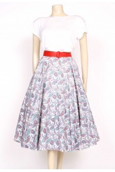 50's paisley printed full skirt