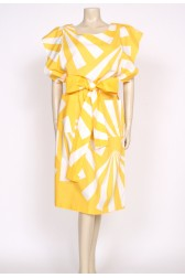 Yellow and white 80's sack dress