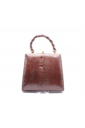 1940's Brown snakeskin handbag