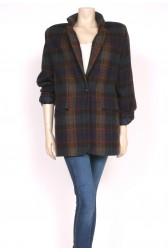Tan & Black Wool 80's Blazer