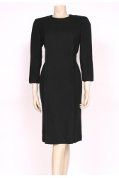 80's Chic Black Wool Dress