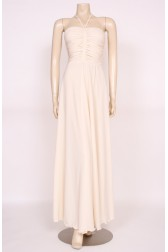 Ruffle Ivory Maxi Dress