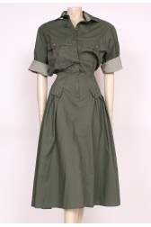 Army Green Day Dress
