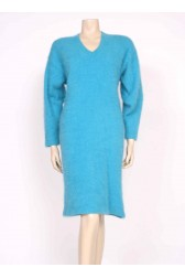 Turquoise Angora Jumper Dress