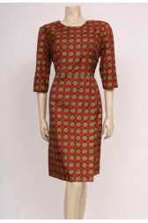 Silky Printed 50's Dress